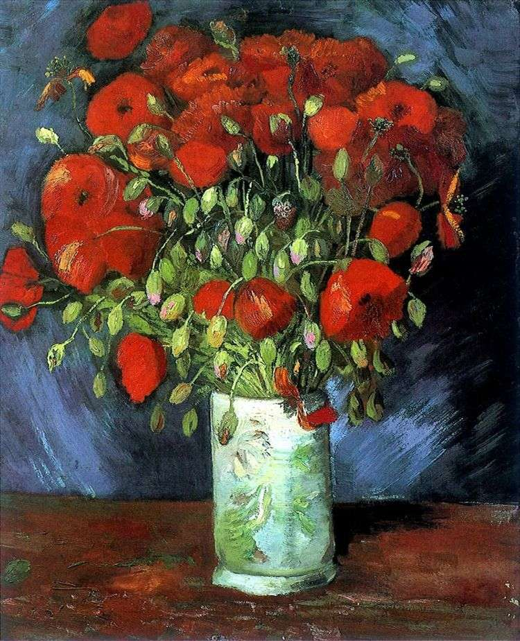 Ваза с красными маками   Винсент Ван Гог