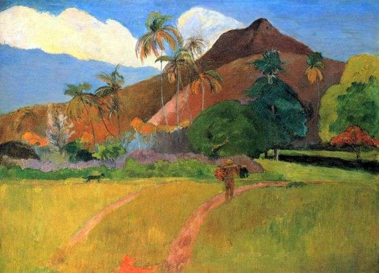 Горы на Таити   Поль Гоген