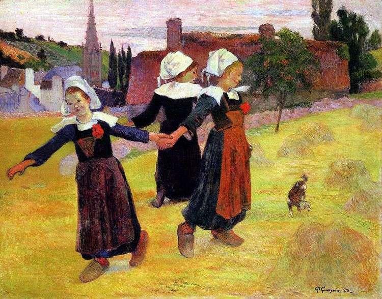 Танцующие девочки   Поль Гоген