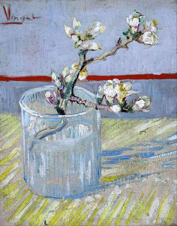 Ветвь цветущего миндаля в стакане   Винсент Ван Гог