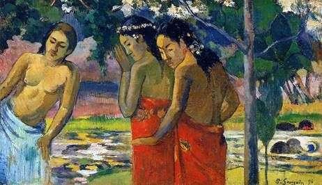 Три таитянки   Поль Гоген