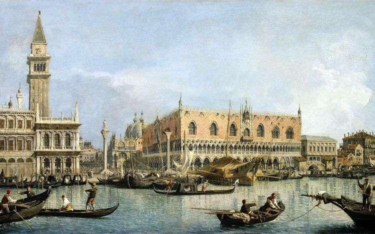 Вид на Дворец дожей в Венеции   Антонио Каналетто