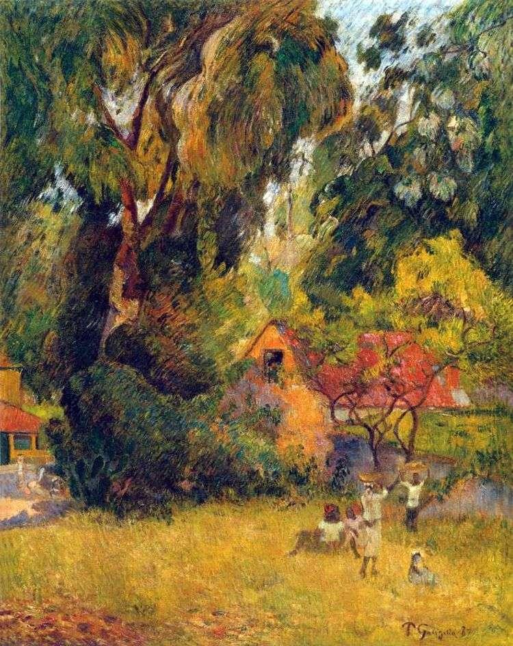 Хижины под деревьями   Поль Гоген