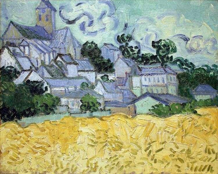 Вид на Овер и церковь   Винсент Ван Гог