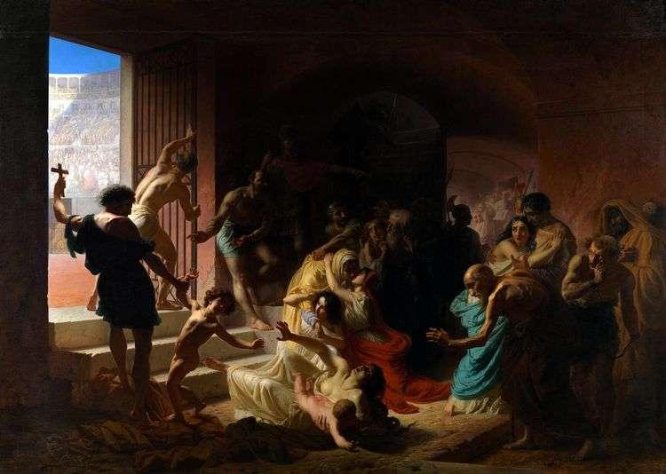 Христианские мученики в Колизее   Константин Флавицкий