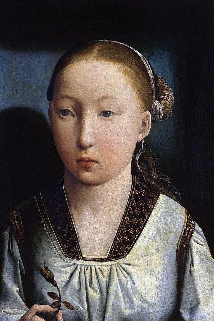 Портрет девушки   Хуан де Фландес