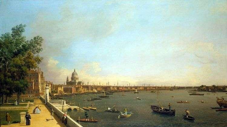 Вид Темзы и Лондона от Сомерсетхауса   Антонио Каналетто