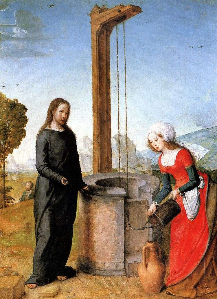 Христос и Самаритянка   Хуан де Фландес