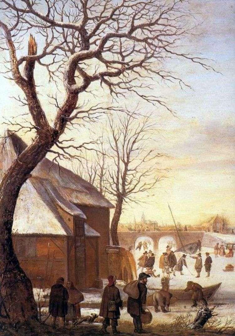 Зимний пейзаж   Хендрик Аверкамп