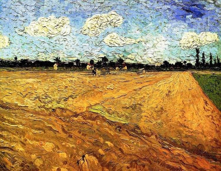 Вспаханное поле   Винсент Ван Гог