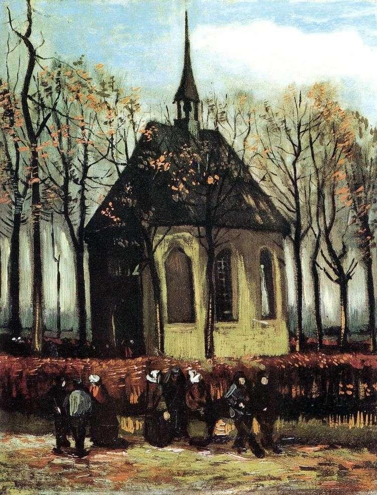 Выход из протестантской церкви в Нюэнене   Винсент Ван Гог