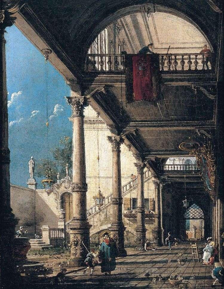 Каприччо с колоннадой   Антонио Каналетто