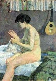 Шьющая женщина   Поль Гоген