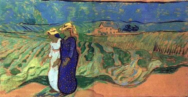 Две женщины идущие в поле   Винсент Ван Гог