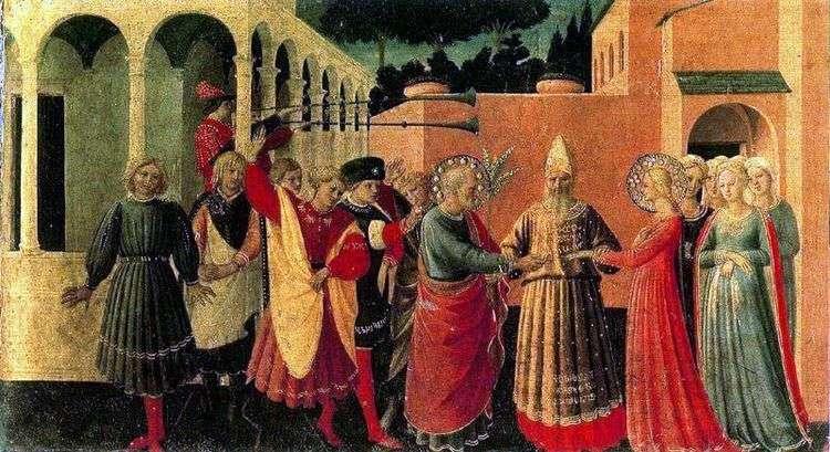 Бракосочетание Девы Марии   Анджелико Фра