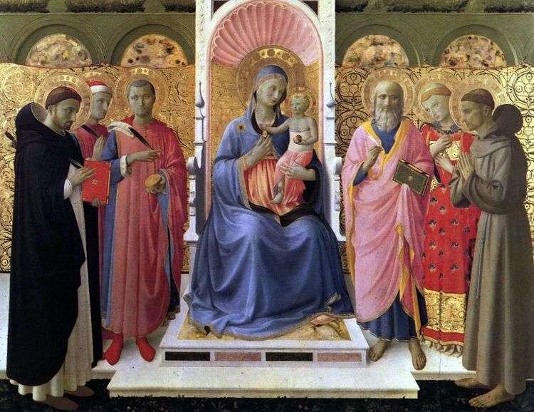Мадонна с Младенцем и святыми   Анджелико Фра