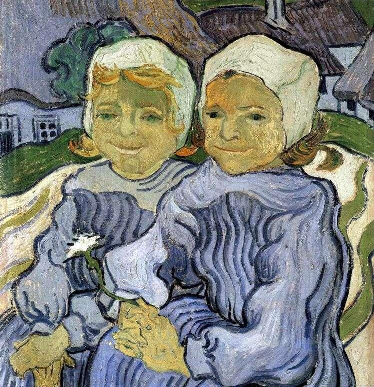 Двое детей   Винсент Ван Гог