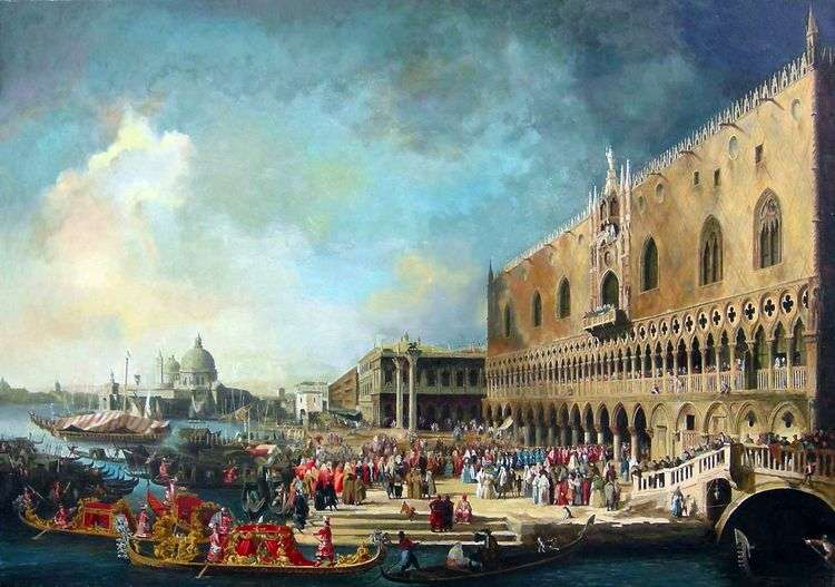 Прием французского посла в Венеции   Антонио Каналетто
