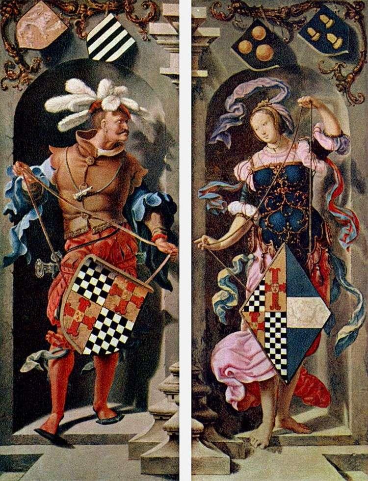 Исцеление иерихонского слепца (боковые створки триптиха)   Лукас ван Лейден