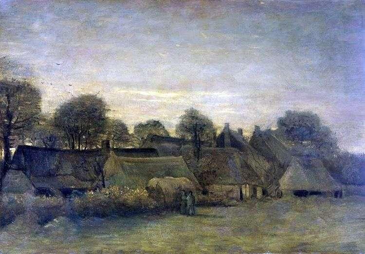Деревня на закате   Винсент Ван Гог