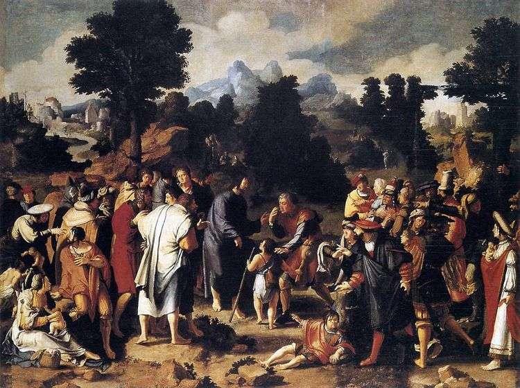 Исцеление иерихонского слепца (триптих)   Лукас ван Лейден