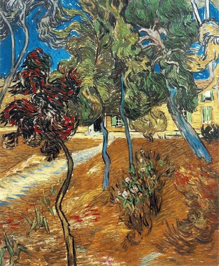 Деревья в саду больницы Сен Поль   Винсент Ван Гог