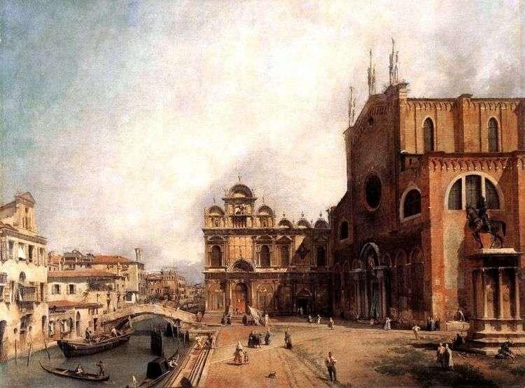 Собор Сан Джованни э Паоло и площадь Сан Марко   Антонио Каналетто