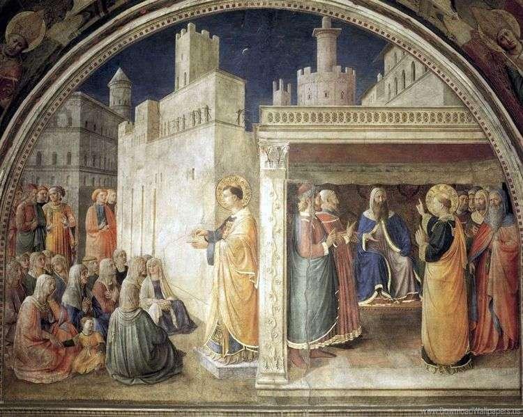 Проповедь св. Стефана. Св. Стефан перед Синедрионом   Анджелико Фра