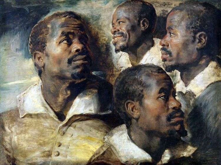 Четыре эскиза головы африканца   Питер Рубенс