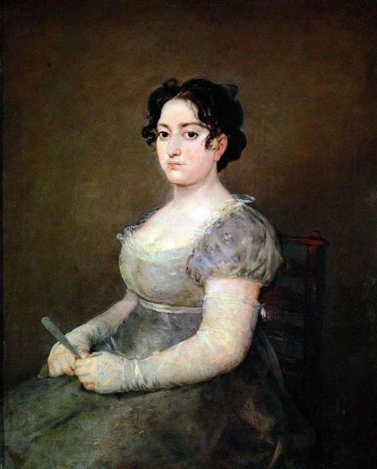 Женщина с веером   Франсиско де Гойя