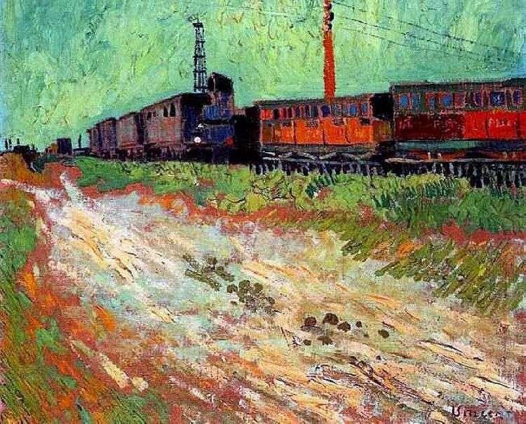 Железнодорожные вагоны   Винсент Ван Гог