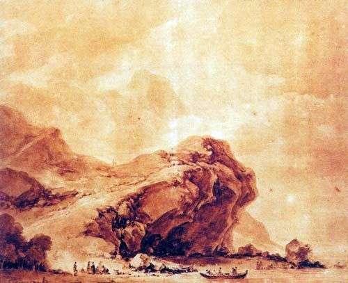 Вид на побережье близ Генуи   Жан Оноре Фрагонар