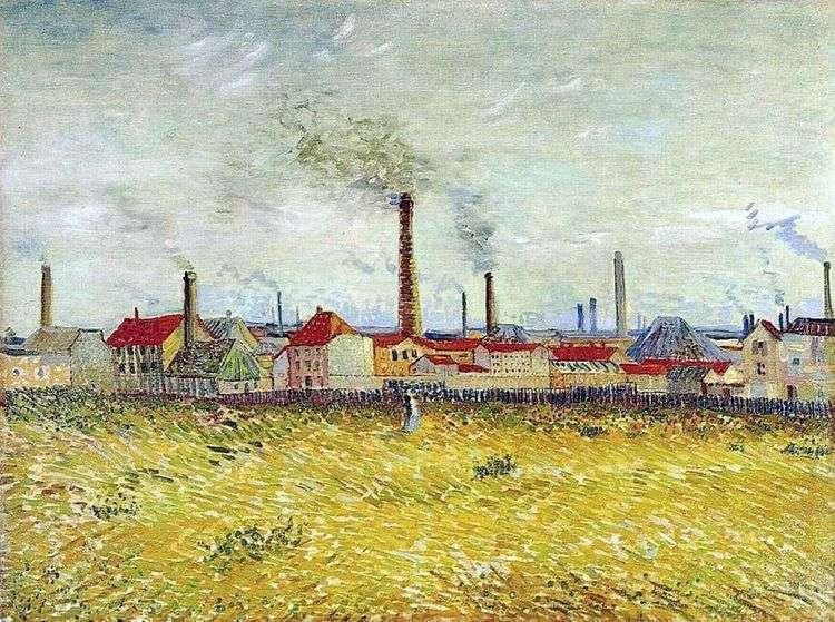 Заводы в Аньере, вид с окраины де Клиши   Винсент Ван Гог