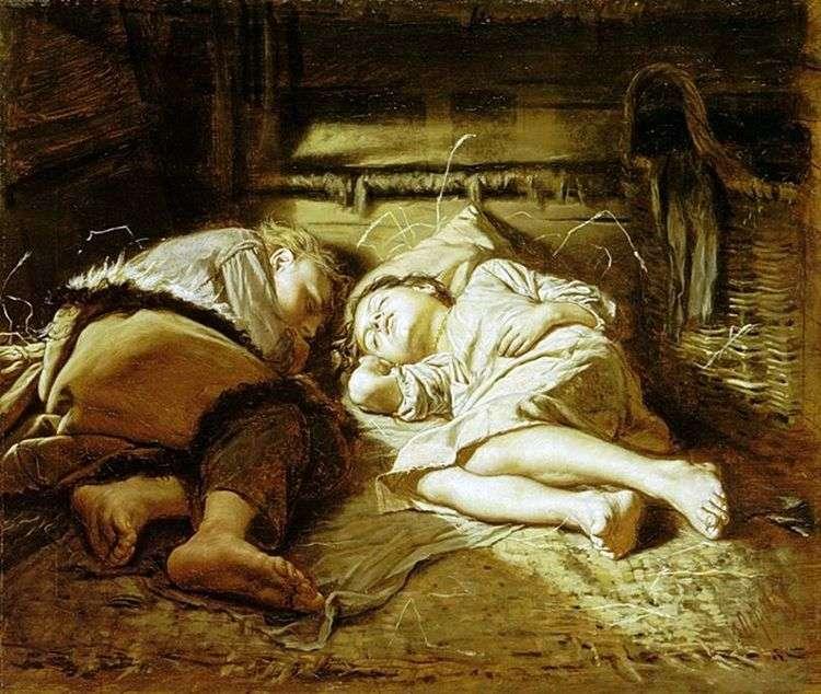 Спящие дети   Василий Перов