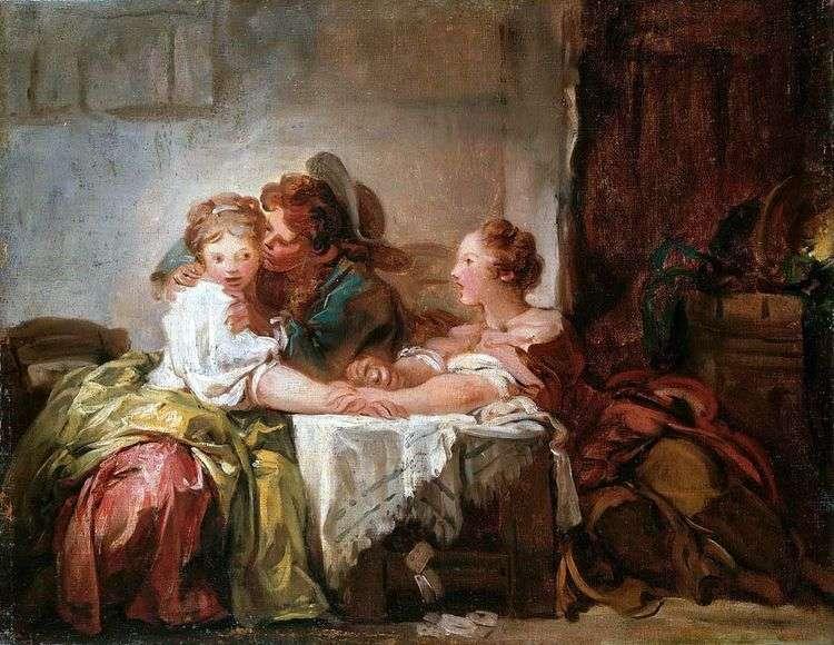 Выигранный поцелуй   Жан Оноре Фрагонар