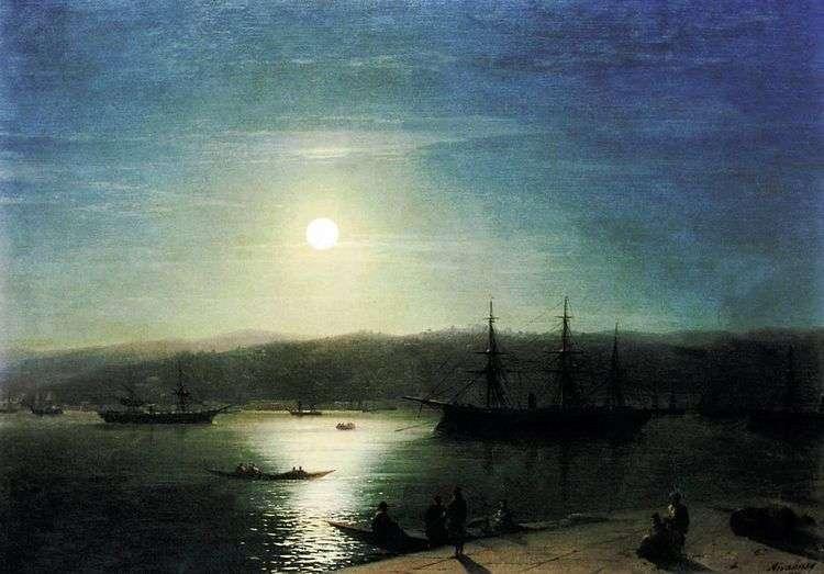 Босфор в лунную ночь   Иван Айвазовский