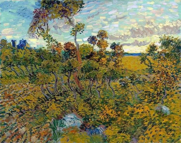 Закат в Монмажуре   Винсент Ван Гог