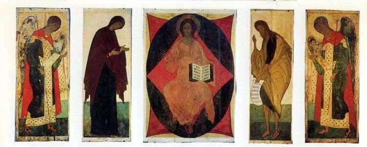 Иконостас Успенского Собора во Владимире Чин Деисусный   Андрей Рублев