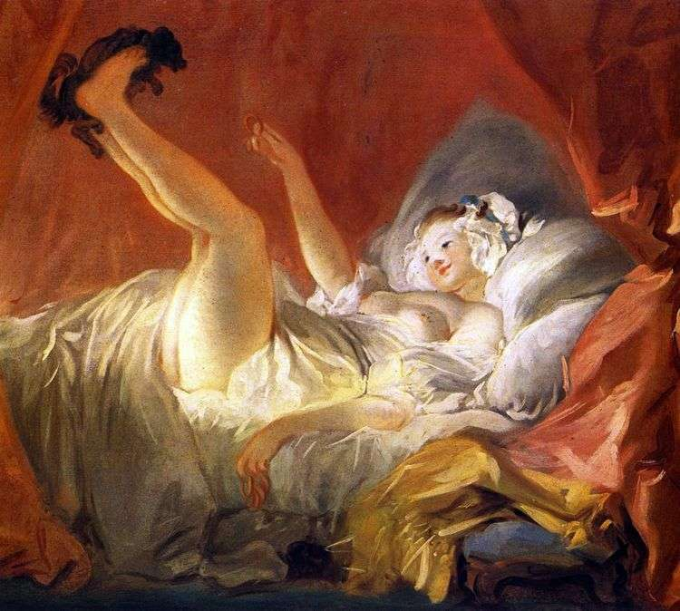 Девушка, играющая с собачкой   Жан Оноре Фрагонар