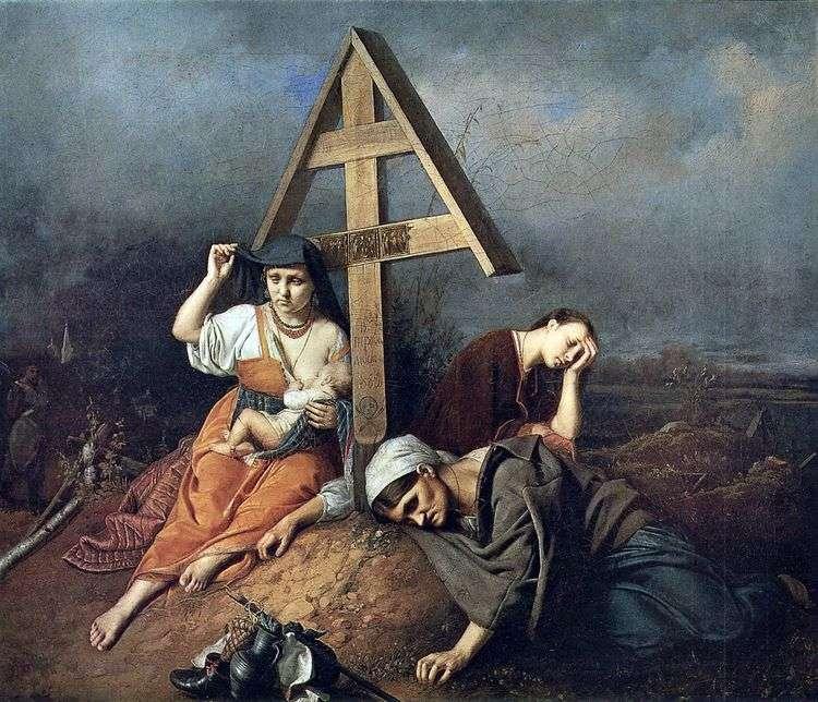 Сцена на могиле   Василий Перов