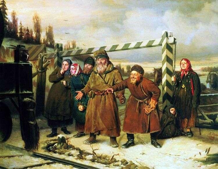 Сцена у железной дороги   Василий Перов