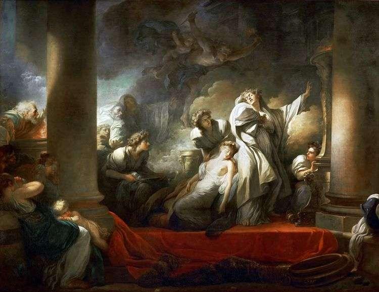 Жрец Корез жертвует собой ради Каллирои   Жан Оноре Фрагонар