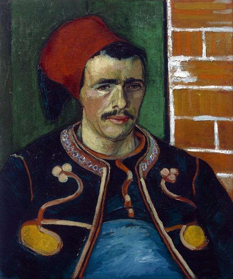 Зуав (Поясной портрет)   Винсент Ван Гог