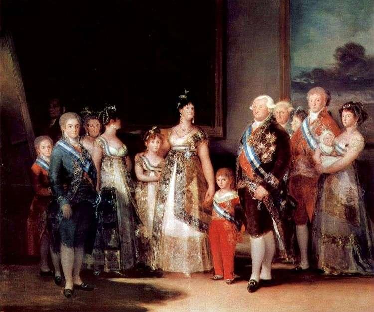 Портрет cемьи Карла IV   Франсиско де Гойя