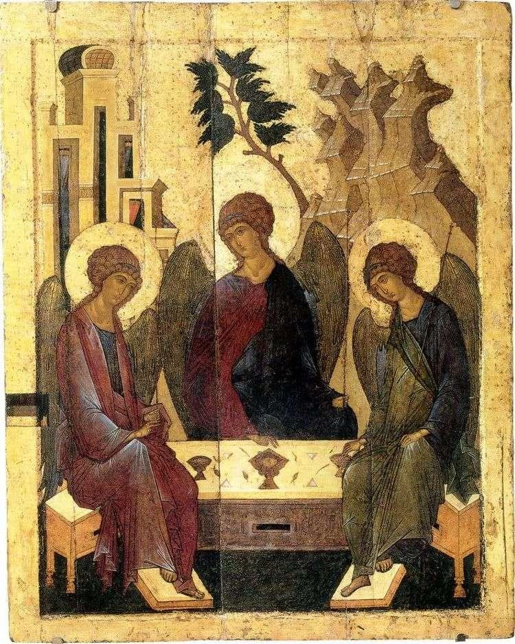 Троица   Андрей Рублев