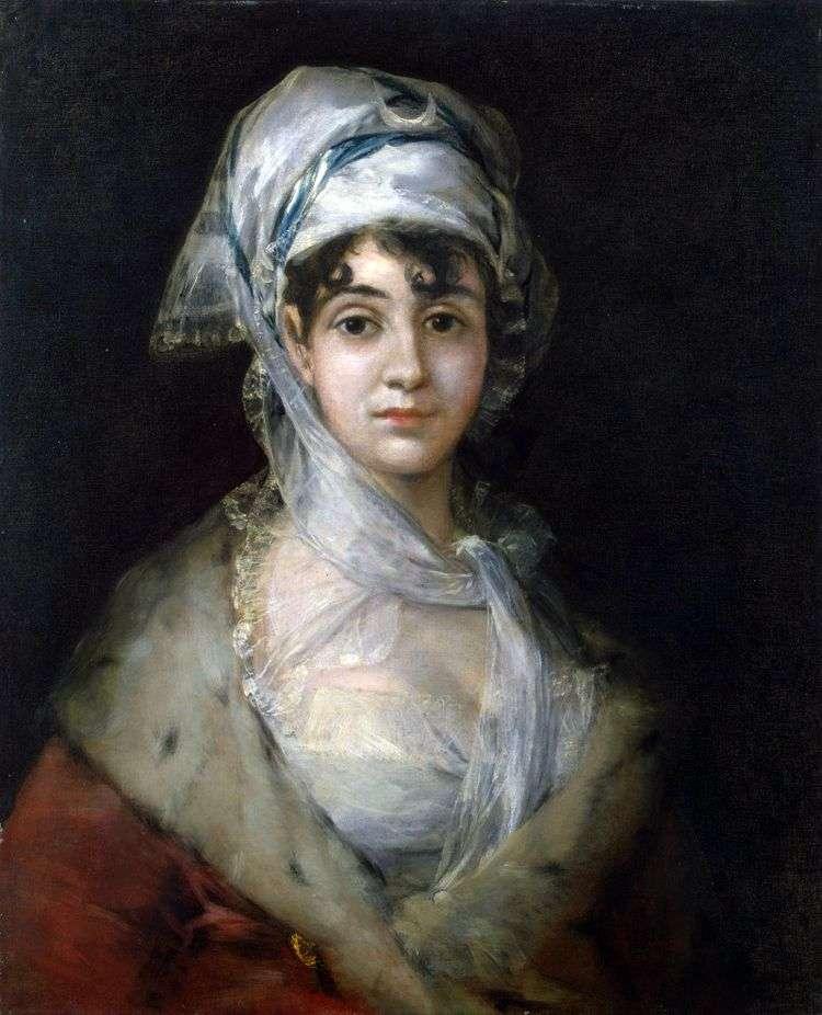 Портрет актрисы Антонии Сарате   Франсиско де Гойя