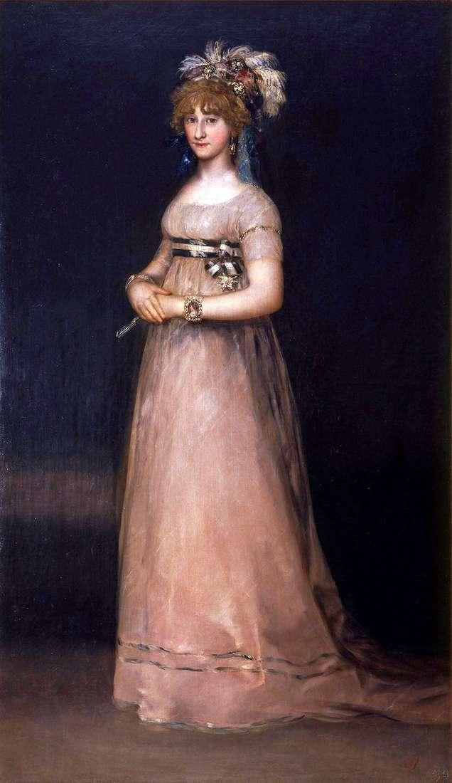 Портрет графини де Чинчон   Франсиско де Гойя