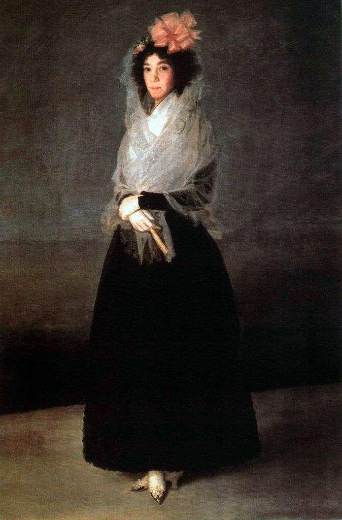 Портрет графини Карпио, маркизы де ла Солана   Франсиско де Гойя