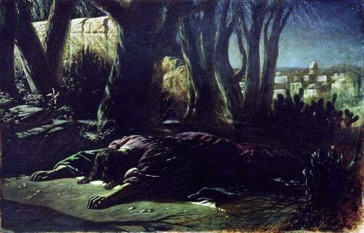 Христос в Гефсиманском саду   Василий Перов