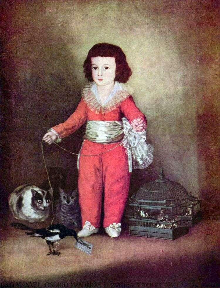 Портрет Дона Мануэля Осорио и Сунига   Франскиско де Гойя